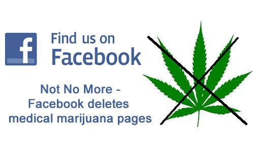 Facebook deletes medical marijuana pages