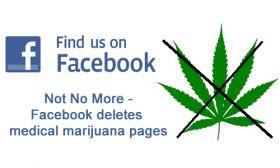 Facebook deletes medical marijuana pages